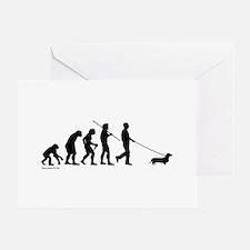 Dachshund Evolution Greeting Cards