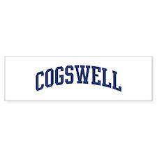 COGSWELL design (blue) Bumper Bumper Sticker