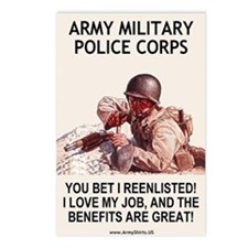 Army MP Corps <BR>Micro Poster Postcards