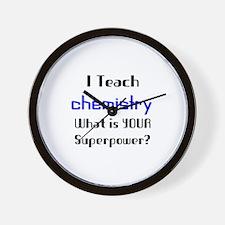 teach chemistry Wall Clock