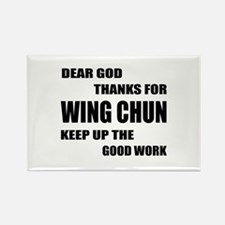 Dear God Thanks For Wing Chun Rectangle Magnet