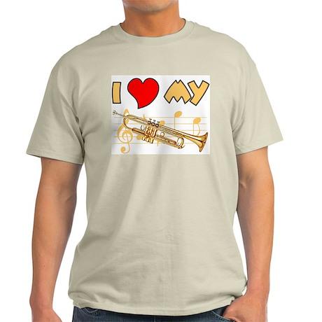 I *Heart* My Trumpet Ash Grey T-Shirt