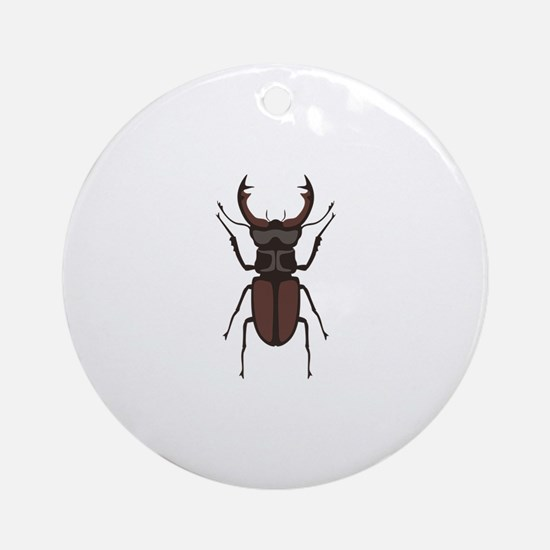 Stag Beetle Round Ornament