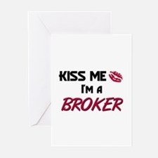 Kiss Me I'm a BROKER Greeting Cards (Pk of 10)