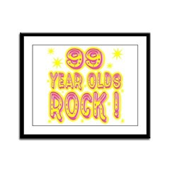 99 Year Olds Rock ! Framed Panel Print