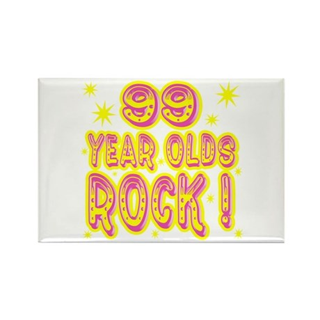 99 Year Olds Rock ! Rectangle Magnet (100 pack)