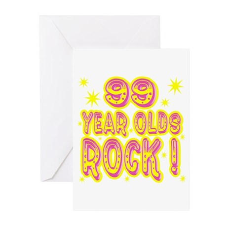99 Year Olds Rock ! Greeting Cards (Pk of 10)