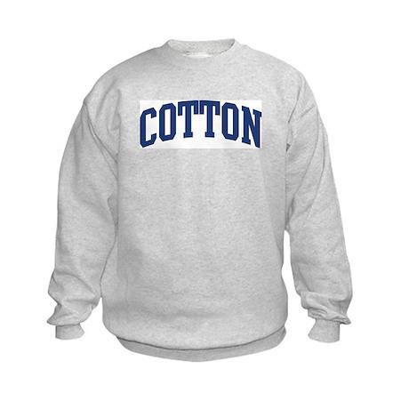 COTTON design (blue) Kids Sweatshirt