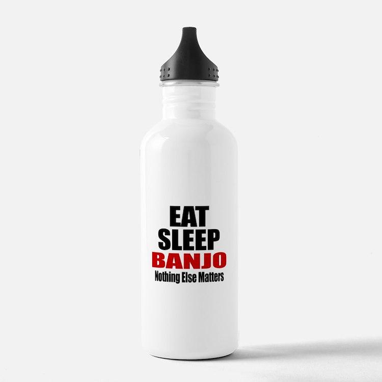 Eat Sleep Banjo Water Bottle