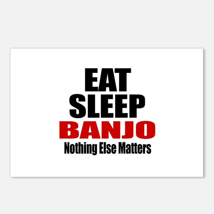 Eat Sleep Banjo Postcards (Package of 8)
