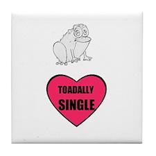 TOADALLY SINGLE Tile Coaster