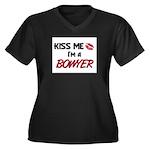 Kiss Me I'm a BOWYER Women's Plus Size V-Neck Dark