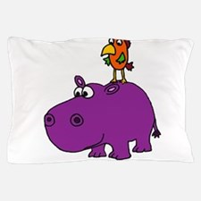 Parrot on Hippo Pillow Case