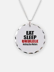 Eat Sleep Ukulele Necklace
