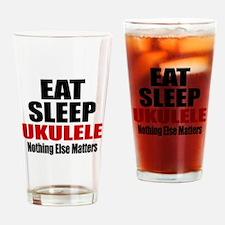 Eat Sleep Ukulele Drinking Glass