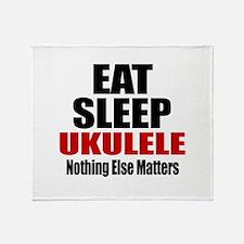 Eat Sleep Ukulele Throw Blanket
