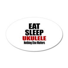 Eat Sleep Ukulele Wall Sticker