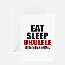 Eat Sleep Ukulele Greeting Card