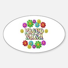 Proud Nana Sticker (Oval)