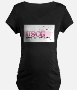 USCG baby on the way Maternity T-Shirt
