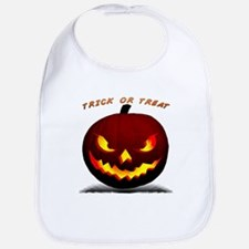 Scary Halloween Pumpkin Bib