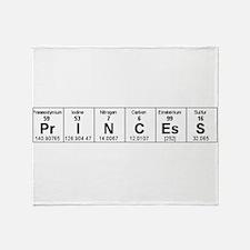 Unique Periodic table elements Throw Blanket