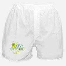 Crazy Gardening Lady Boxer Shorts