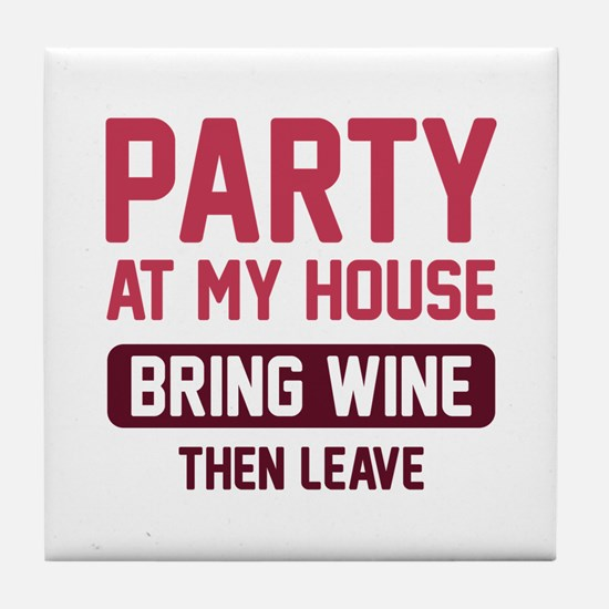 Party At My House Tile Coaster