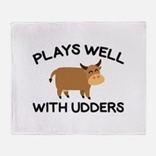 Plays Well With Udders Stadium Blanket