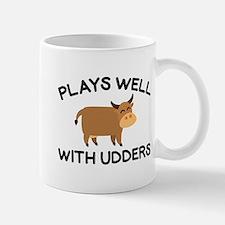 Plays Well With Udders Mug