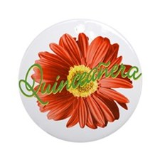 Bright Flower Quinceanera Ornament (Round)