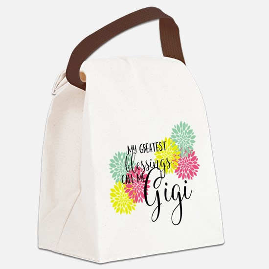 Gigi's Greatest Blessings Canvas Lunch Bag