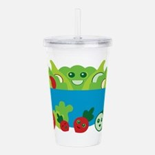 Kawaii Salad Acrylic Double-wall Tumbler