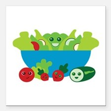 "Kawaii Salad Square Car Magnet 3"" x 3"""