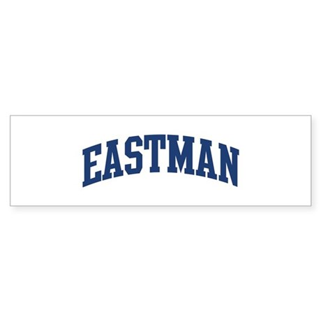 EASTMAN design (blue) Bumper Sticker