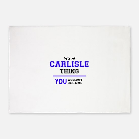 It's CARLISLE thing, you wouldn't u 5'x7'Area Rug