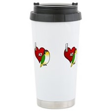 Cute I love my rabbit Travel Mug