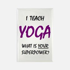 teach yoga Rectangle Magnet