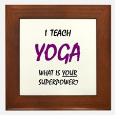 teach yoga Framed Tile
