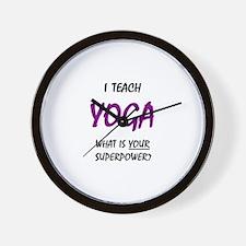 teach yoga Wall Clock