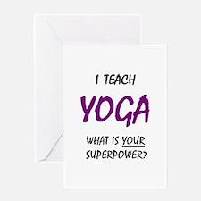 teach yoga Greeting Card