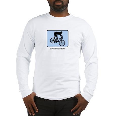 Mountain Biking (BLUE) Long Sleeve T-Shirt
