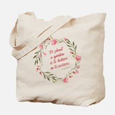 Tote Bag - Quote About Gardening By Audrey Hepburn
