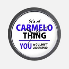 It's CARMELO thing, you wouldn't unders Wall Clock