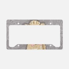 Hipster Poodle License Plate Holder