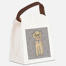 Hipster Poodle Canvas Lunch Bag