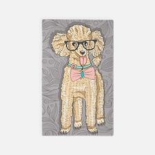 Hipster Poodle Area Rug