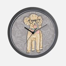 Hipster Poodle Wall Clock