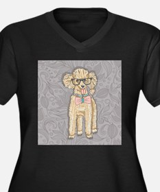 Hipster Poodle Plus Size T-Shirt