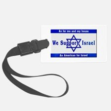 We Support Israel Luggage Tag